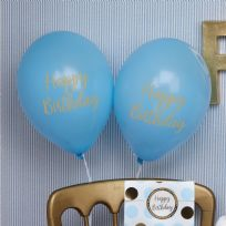 Pattern Works Blue Happy Birthday Balloons (8)